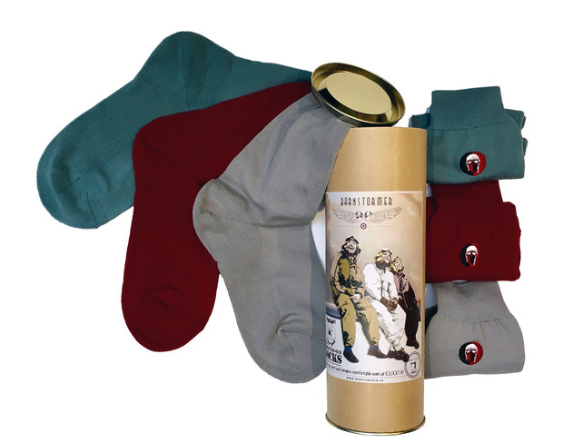 coffret cadeau 1 chaussettes homme made in france barnstormer