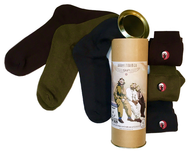 coffret cadeau 2 chaussettes homme made in france barnstormer